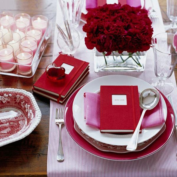 valentinstag romantisch abendessen dekoration