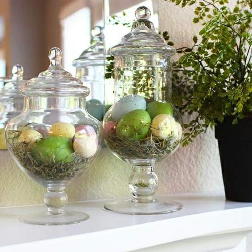 Tolle deko ideen f r kaminsims zu ostern - Ostern dekoration ...
