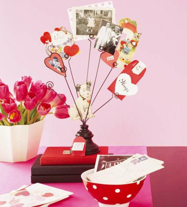 valentinstag fotobaum dekoration haus machen