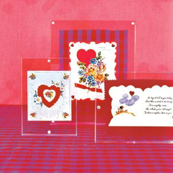Valentinstag Karte Dekoration Rot Herzen
