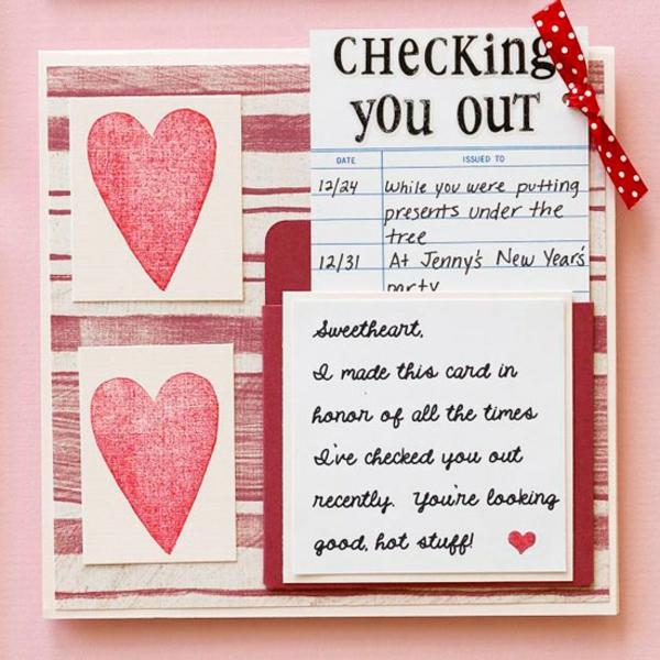 Valentinstag Idee Karte Vorschlag