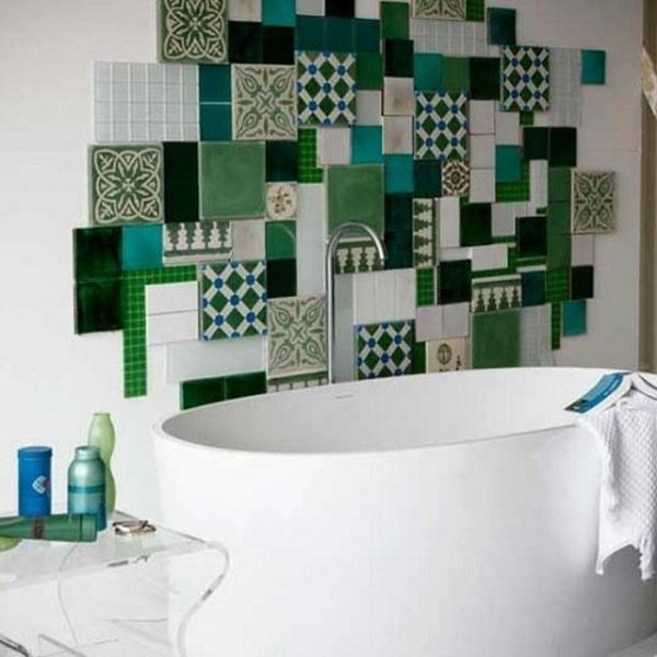 grüne farben im badezimmer