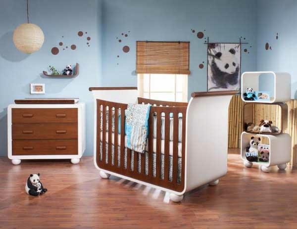 verspielt kinderzimmer baby idee design bett holz