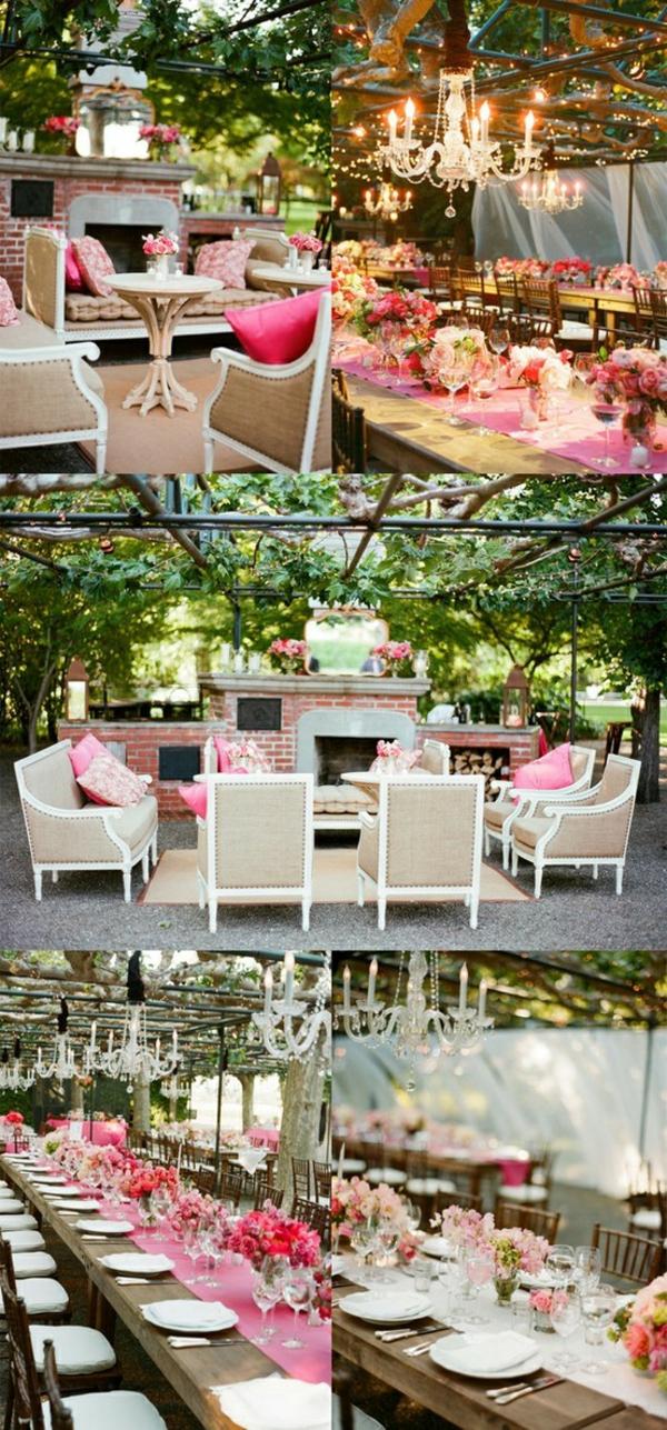 romantisch patio bunt farben luxus rosa klassisch design