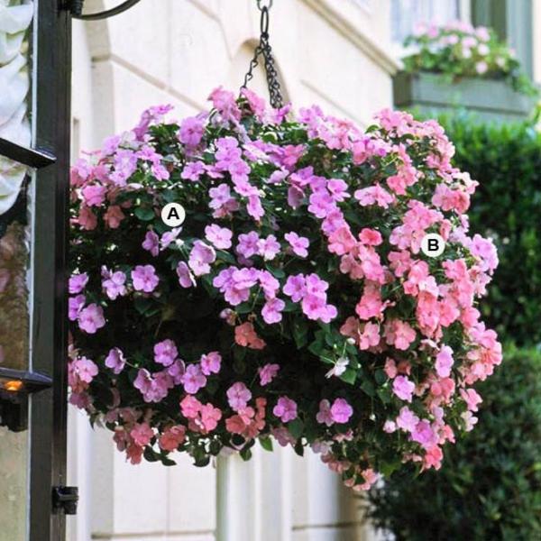 Gartengestaltung hängende effektive Körbe
