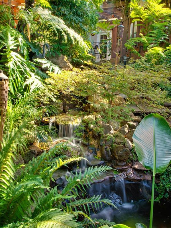 Gestaltun von Garten tropischer Rückzug