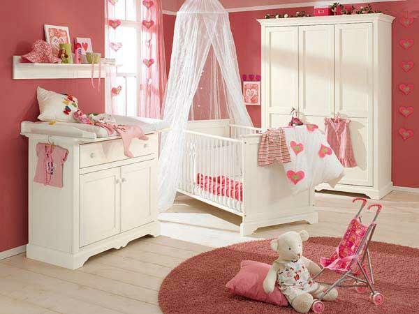 weiblich kinderzimmer baby rosafarbig idee