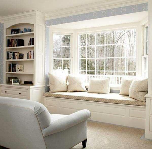 weiss design erkerfenster fenstersitze idee haus wohnung