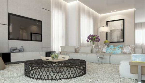 Wohnzimmer Grau Beige Weiss Eigenschaften | Interior Design Ideen ... Wohnzimmer Weis Modern