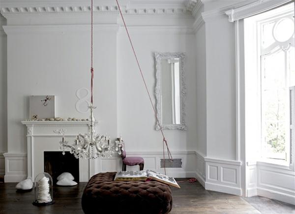 Weiße Interieurs idee design stilvoll akzent effekt
