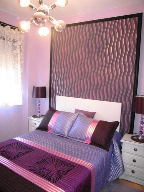 Farben an der Wand im Schlafzimmer Grau und Blau mischen