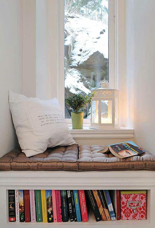 winter gebirge gemütliche fenstersitze erkerfenster ideen design