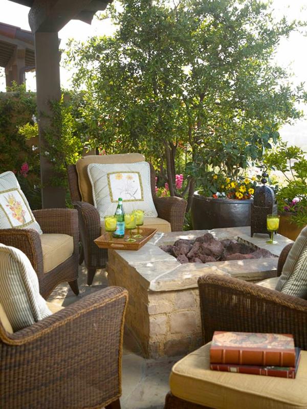 Behaglichen Außenwohnraum patio wohnzimmer Terrasse-Möbeln
