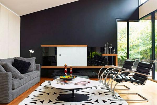 schwarze innenw nde in ihrer wohnung 30 originelle vorschl ge. Black Bedroom Furniture Sets. Home Design Ideas