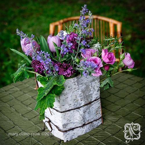 Baumrind Vase Tisch Garten Gartenmöbel unglaublichen Blumen