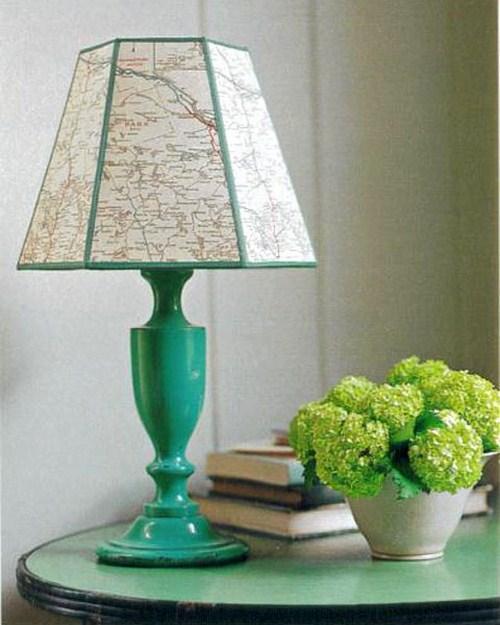 Coole Landkarten idee grüne lampe design