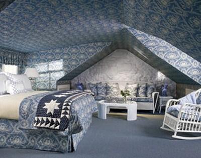 Coole Blaue Decke Schlafzimmer Interieur Design