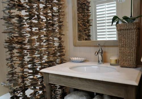 deko ideen fantastische triebholz vorhnge splbecken - Deko Idee Holz