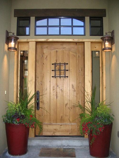 Haustüren holz rustikal  Haustüren aus Echtholz - 15 attraktive Deko-Ideen