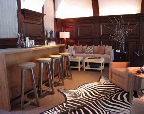 Großes Hausbar Design Barhocker Arbeitsplatte Sofa