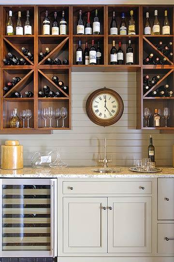 Hausbar Küche Weinkeller Küchenschränke Spülbecken