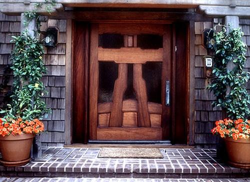 Haustür Deko haustüren aus echtholz 15 attraktive deko ideen