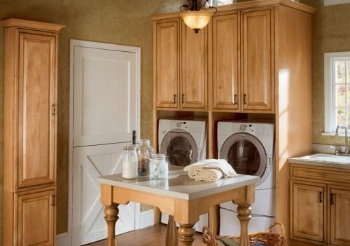 Ideen Dekoration gemütlichen Waschküche waschmachinen