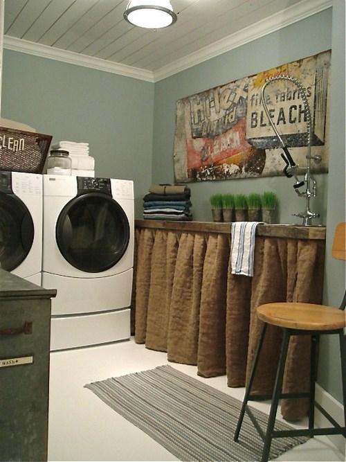 Ideen Dekoration kleiner gemütlichen Waschküche Innenraum