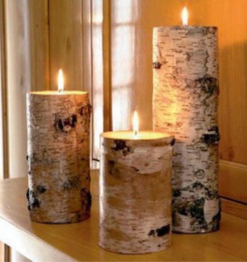 15 ideen für das dekorieren ihrer innenausstattung mit baumrinde - Deko Kommode Wohnzimmer