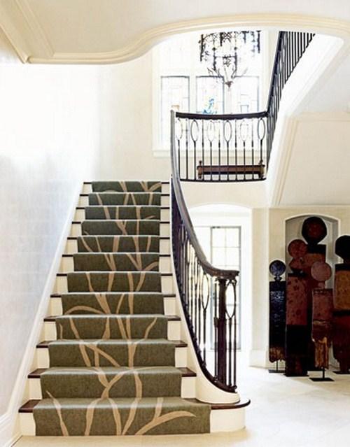 Klassischer Vorleger Zuhause Treppe Innenraum