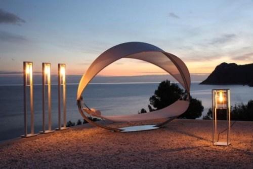 Moderne Hängematte romantische Stil Strand Lampen