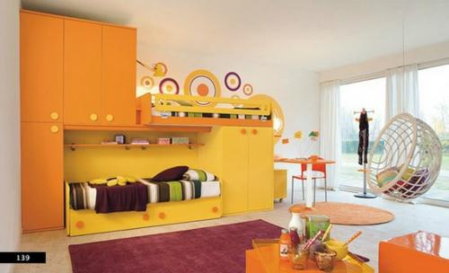 Kinderzimmer Design Idee in Weiß und Gelb - origineller Vorschlag | {Kinderzimmer ausstattung 56}