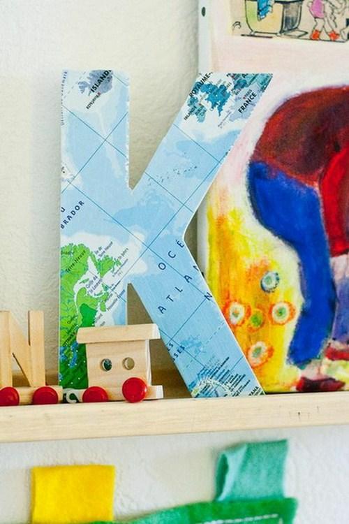 Selber machen Dekor Landkarten Letter