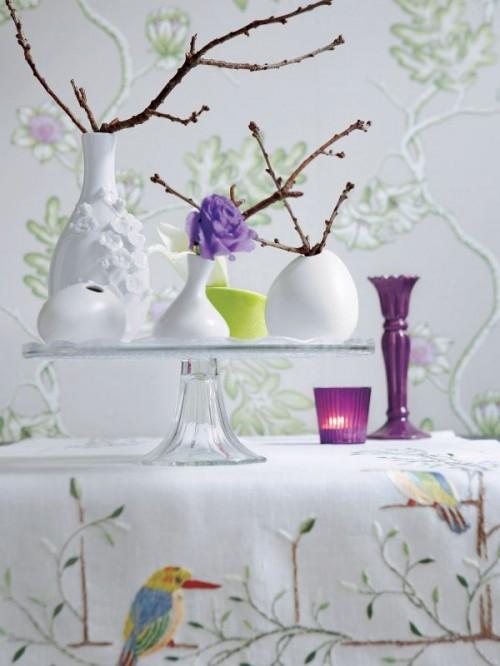 Shabby Chic Dekor Zweigen Vase Tisch