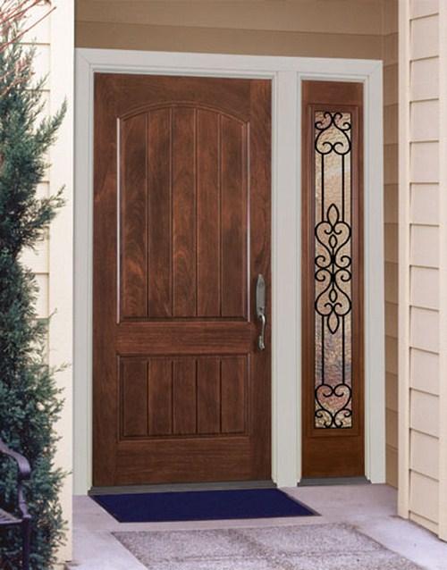 Stilvolle Haustür solidem Holz Eingangs Design