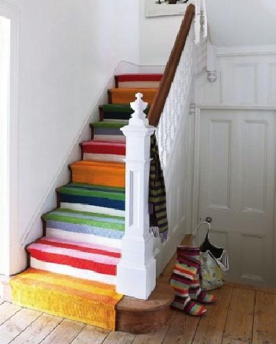 Stilvolle Treppendekoration Rustikales Interieur Design Holz