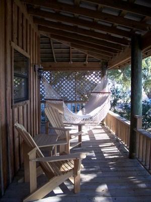 Traditionelles Hängematten Design Holzstühlen Veranda Design