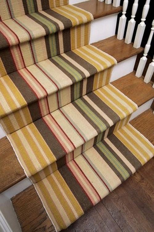 coole Treppen Vorleger Design bunten farben