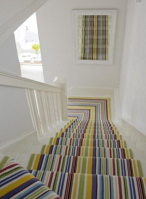 coole Treppen-Vorleger bunten farben grün