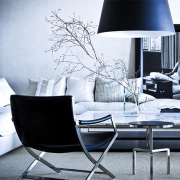 Wohnzimmer Dekor Zweigen Sessel Sofa urbanische