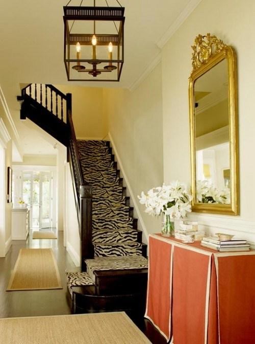 Zebramuster coole-Treppen Vorleger Design Idee