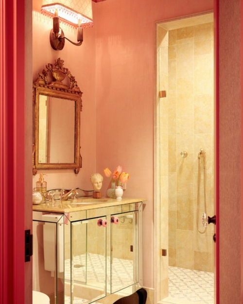 altmodisch ausstattung idee spiegel Badezimmer Interieurs wickelkommode idee