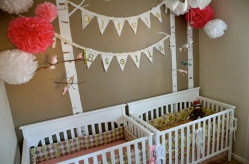 Zwillingszimmer baby  Baby Kinderzimmer Idee