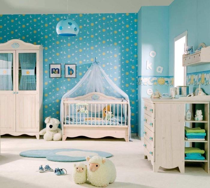 babyzimmer gestalten babyzimmer set blau