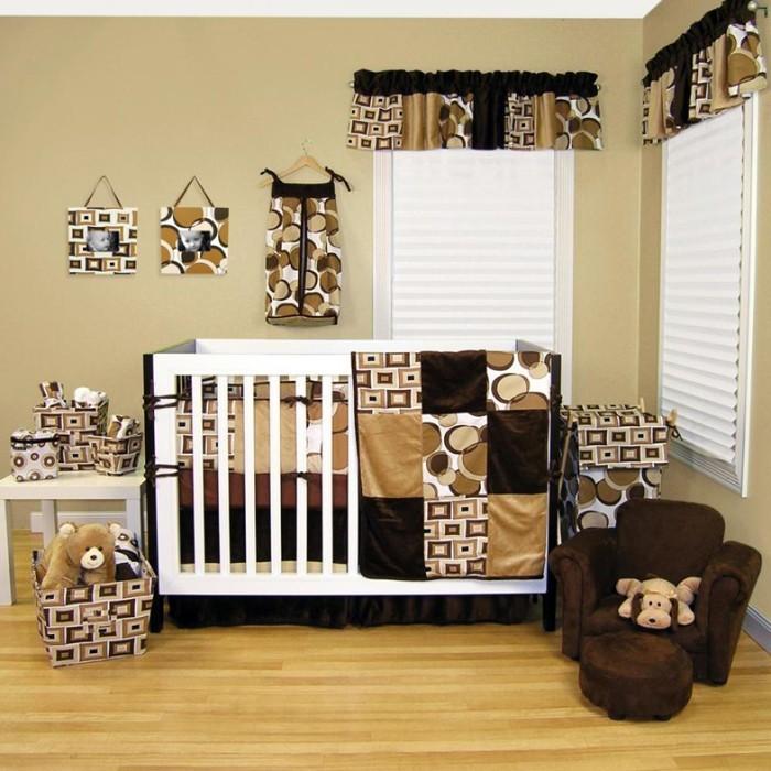 babyzimmer gestalten babyzimmer set braun karamel