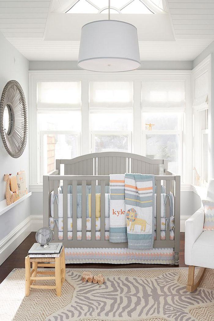 babyzimmer gestalten babyzimmer set grau weiss