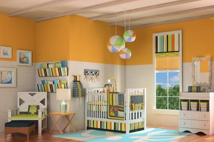 babyzimmer gestalten babyzimmer set orange