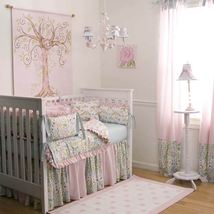 babyzimmer gestalten babyzimmer set zart rosa