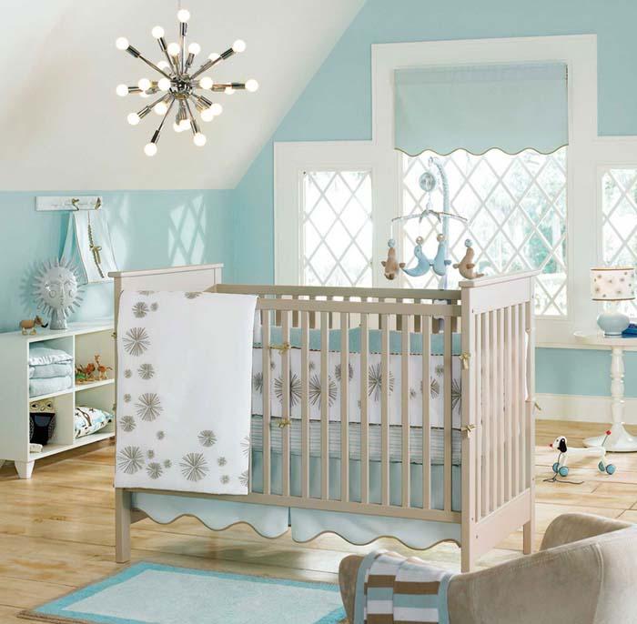 babyzimmer gestalten babyzimmer set zuckersueß babyblau