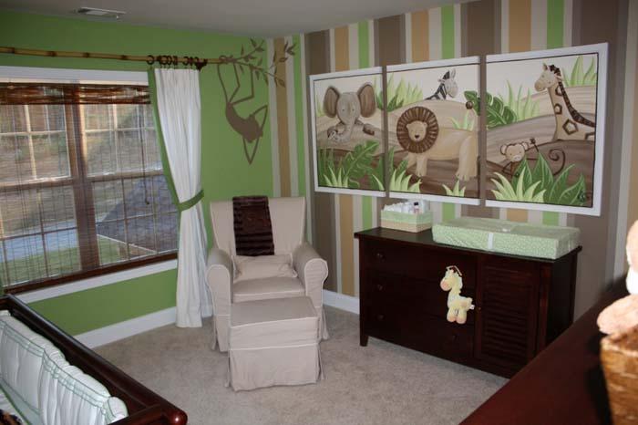 babyzimmer gestalten babyzimmer set zuckersueß grün